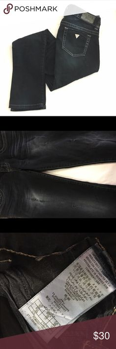 """Guess Jeans Size 28 Guess skinny jeans. There are a few """"rips"""" in the front but that is the look of the jeans. Great condition! Guess Jeans Straight Leg"""