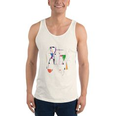 This tank top has everything you could possibly need – vibrant colors, soft material and a relaxed fit that will make you look fabulous! Timeless Classic, Stretchy Material, Tank Man, Unisex, Tank Tops, Cotton, Fashion, Moda, Halter Tops