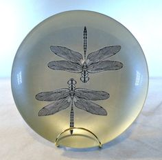 Decorative Bowl Double Dragonflies 8 by littlespoonstudio on Etsy
