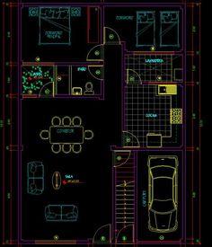 planos-de-viviendas-autocad- ... Dream House Plans, House Floor Plans, Cad Library, Cad Blocks, Pictures Images, Flooring, How To Plan, The Originals, Architecture