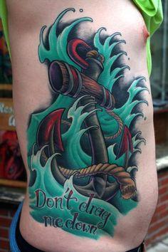 Tim Senecal - big ass anchor #tattoo