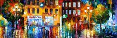 THE CITY OF RAIN - PALETTE KNIFE Oil Painting On Canvas By Leonid Afremov http://afremov.com/THE-CITY-OF-RAIN-PALETTE-KNIFE-Oil-Painting-On-Canvas-By-Leonid-Afremov-Size-14-x40.html?bid=1&partner=20921&utm_medium=/vpin&utm_campaign=v-ADD-YOUR&utm_source=s-vpin