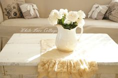 White Lace Cottage Blog | have a thing for painted farm tables.Big or small.This one was ...