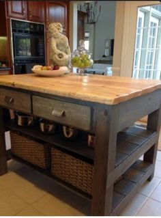 Diy Kitchen Island Project That Could Be Redesigned Into A Coffee Table
