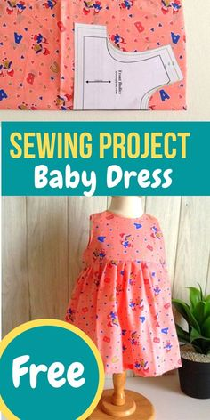 Easy Baby Girl Dress Sewing Pattern - Sew Crafty Me - Learn how to sew a baby g. - Easy Baby Girl Dress Sewing Pattern – Sew Crafty Me – Learn how to sew a baby girl dress with - Sewing Patterns Girls, Baby Clothes Patterns, Baby Patterns, Clothing Patterns, Pattern Sewing, Pattern Drafting, Skirt Patterns, Coat Patterns, Blouse Patterns