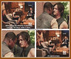 Daryl Dixon - Chris Hardwick - Talking Dead - The Walking Dead cast