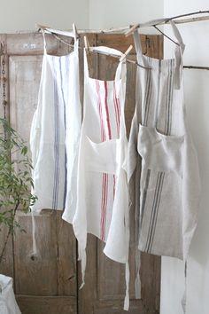 데이지하우스에 오신 것을 환영합니다! Cafe Apron, Barbecue Design, Gardening Apron, Linen Apron, Sewing Aprons, Jute Bags, Shabby Vintage, Knitting Designs, Linen Fabric