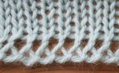Knitting Tutorial - A very lacy and stretchy Cast On. Pictorial instructions + text.  - from stringgeekery.
