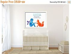 On SALE Inspirational wall art Fox Quote art by ArtistiCorner