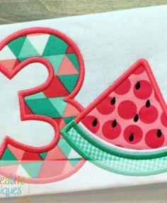 watermelon-number-applique