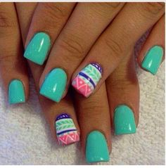 Mint Green Pink and abstract2016 Gel Nail Trends from Mirror Mirror Salon & Spa in Kelowna, BC.  We specialize in Biosculpture Gel Nails which have a 5 Star safety rating and help maintain the health and integrity of your delicate nails.   #2016nailtrends #kelownanails #kelownagelnails #nailtrends #nailart #gelnails #nailextensions #manicure #manicureideas #kelownaspa #kelownadayspa #nailsalon #biosculpture #biosculpturegel  #style #fashion#gelnails #manicure #nails #kelownadayspa #mm