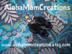Black Licorice Earrings by AlohaMomCreations on Etsy #alohamomcreations #simpleblackearrings