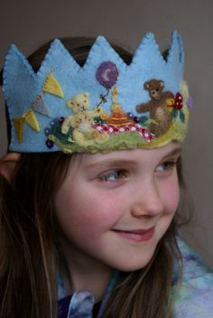 "Waldorf Felt Birthday Crown ""Teddy Bears Picnic"" at tilly tilda - etsy    https://www.etsy.com/listing/125412063/waldorf-birthday-crown-reserved?"