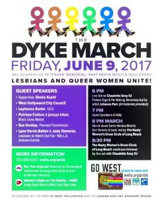 #dykemarch takes place this Friday in #weho for #onecityonepride #free #protestsigns #workshop #pride #lgbtq @wehoarts @wehocity