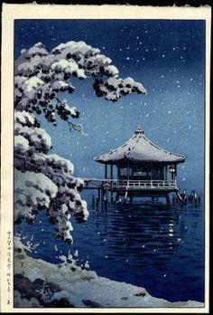 Koitsu, Tsuchiya (1870-1949) - Snow At Katata Ukimido Shrine