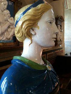 Love the milky white terra cotta Della Robbia used in his art!!