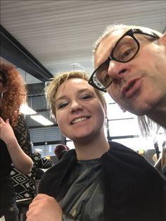 Dag 5 van de #joicoschoolcontest #jsc2017 bij The Linq met #joico Christel Smeets  Philippe Mathys  Katelijne Joico Belgium en #peterplatel
