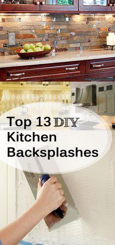 Top 13 DIY Kitchen Backsplashes