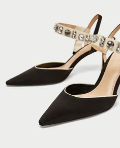 ec6be4f8c09 Image 4 of HIGH HEEL SLINGBACK SHOES WITH BEADED DETAIL from Zara Strap  Heels