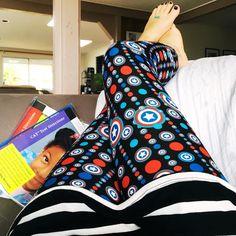 Lularoe leggings #marvelmom #captainamerica @lularoedreabraddock • Instagram photos and videos