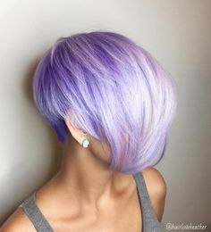 Pastel Purple Pixie Bob Purple Pixie Cut, Short Purple Hair, Pastel Purple Hair, Gray Hair, Blue Hair, Pastel Pixie Hair, Hair Color Pixie Cut, Violet Hair, Burgundy Hair