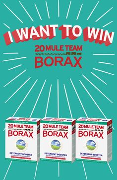 For all the ways that you  20 Mule Team Borax, 20 Mule  Borax loves you back! Like this post for a chance to win a FREE box of 20 Mule Team Borax!