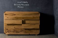 Solid Timber Recycled Messmate Tallboy | Christian Cole Furniture