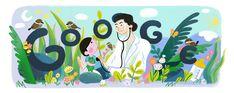 Fe del Mundo's 107th Birth Anniversary Filipino, Harvard Medical School, Google Doodles, Doodle Designs, Childrens Hospital, Typography Logo, Pediatrics, Art Google, Special Day
