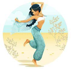 Acho que mesmo quem não curte festival de música, gosta de espiar os looks de quem vai! A galera é mais ousada e cria visuais bem diferentes do dia a dia, né? Até as princesas Disney entraram nessa onda ~Coachella~. Duas artistas, aAndi Bokelmann e a Tiffany Egbert,tiveram essa mesma ideia:reimaginaram princesas Disney em festival de música, com aqueles looks bem característicos:muito top, crochê, franjas, short jeans e botinhas, além...