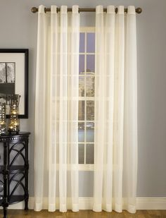 Splendor sheer grommet top curtains are made with batiste fabric, available in 7 colors. Grommet Curtains, Panel Curtains, Kitchen Curtains, Bed & Bath, Bed Spreads, Window Treatments, Home Projects, Master Bedroom