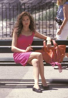 Geena Davis, Park In New York, Still Image, Central Park, Girl Boss, Actresses, Celebrities, June, Movie
