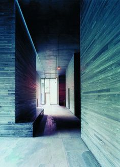 clad internal spine walls in stone? like Thermes Vals Hotel Spa in Switzerland by architect Peter Zumthor _ Hotel Motel, Hotel Spa, Architecture Details, Interior Architecture, Kolumba Museum, Therme Vals, Spa Lighting, Spa Interior, Peter Zumthor