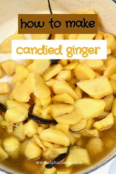 How to make crystallized ginger with just three base ingredients and a simple process. Use this method to make candied ginger stored in a simple ginger syrup, or go one step further and dry the ginger pieces for delicious homemade crystallized ginger!