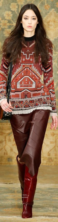 Cowgirl Style ~ Tory Burch Collections Fall Winter 2015-16 collection. ~ Thank you, James Mitchell :)