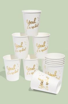 Yeah, it's spiked. Paper party cups with gold foil
