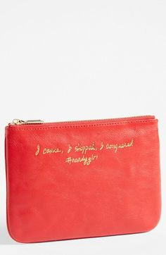 Rebecca Minkoff 'Erin - I Came, I Shopped, I Conquered' Leather Pouch available at #Nordstrom