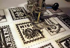 Postage Stamp Perforations | Just Something I Made- Completely Great Idea! By making a special sewing machine needle.
