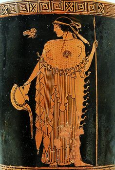 Athena holding a helmet and a spear, with an owl (Greece, between circa 490 and circa 480 BC). Attributed to the Brygos Painter. Metropolitan Museum of Art. Greek And Roman Mythology, Greek Gods, Egyptian Mythology, Egyptian Goddess, Egyptian Art, Ancient Goddesses, Gods And Goddesses, Ancient Greek Art, Ancient Greece