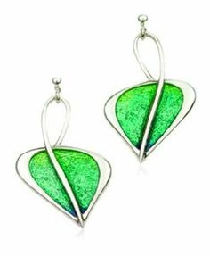 Ortak Sterling Silver ARG 13 Lagoon Enamel Drop Earring: Amazon.co.uk: Jewellery