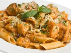 Simple Chicken with Vodka Sauce served with penne pasta is a perfect dish for the weekend.  Vodka sauce is really big here in Chicago.  Each restaurant has its own variations normally using ju
