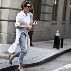 7 Style Tips to be Parisian Jeanne Damas, Street Style, Street Chic, Coco Chanel, Classic White Shirt, Outfits Mujer, Parisian Chic, Lookbook, White Shirts