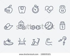 Fitness icons by Colorlife, via Shutterstock