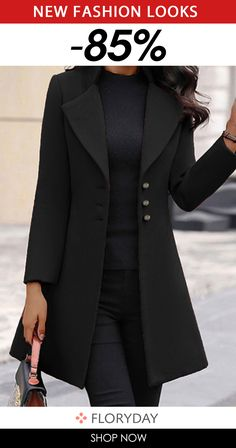 Womens Fashion Online, Latest Fashion For Women, Coats For Women, Sweaters For Women, Mode Mantel, Blazer Fashion, Women's Fashion, Stylish Coat, Coat Sale