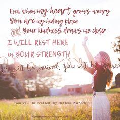 """You will be Praised"" by Darlene Zschech (""Here I Am Send Me"" (Hineni) ) #youwillbepraised #darlenezschech #hereiamsendme #worshipmusic #christianmusic #christiansong #worshipsong #greatlyrics #songlyrics #praise"