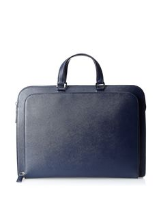 RECOMMEND: Saffiano (pebbled) leather is ideal because of the way light is diffused off the surface. Rounded corners are excellent. Black Leather Briefcase, Briefcase For Men, Leather Men, Fashion Bags, Mens Fashion, Men's Totes, Sack Bag, Prada Men, Luxury Bags