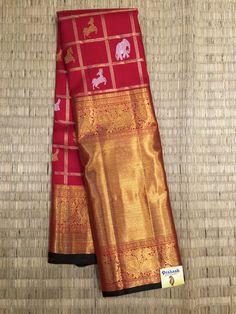 Kanchipuram traditional saree Prakash silks
