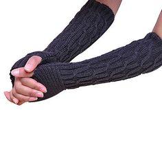 Knitted Gloves Long Arm Glove Warmer Wool Fingerless Glove Half Sleeves Winter