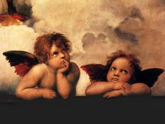 From the Sistine Madonna painting by Raphael. Mima loved this painting...it reminds me of her.
