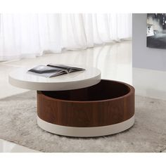 Romola Round Storage Coffee Table - Wooden Coffee Tables, Coffee Tables