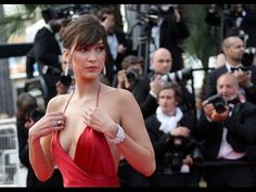 Bella Hadid With Her Red Dress At The Cannes Film Festival